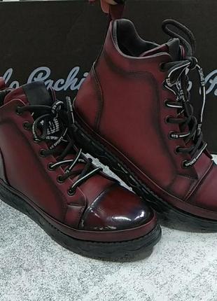 Демисезонные кожаные ботинки phanny осень 2021