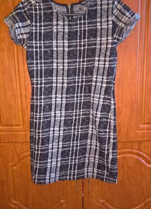 Платье деми .вязаное короткий рукав.