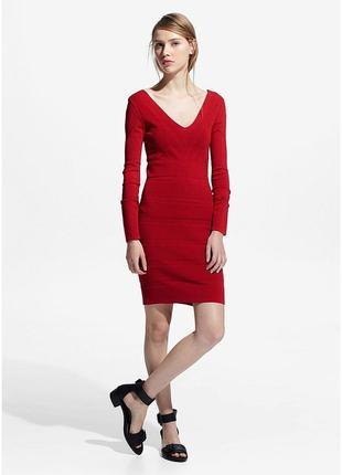 Красное платье-миди от mango