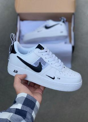 Белые кроссовки nike air force 1 low tm white