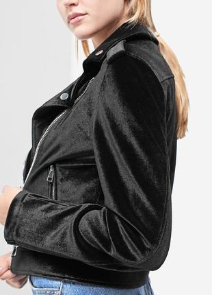 🔥-30% скидки !бархатна куртка/косуха stradivarius