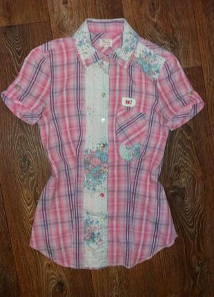 Модненькая рубашка на девочку replay made in india.
