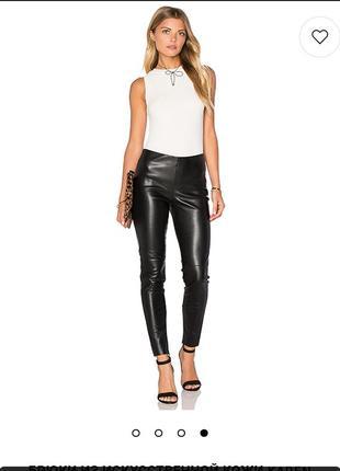 💕 брендовые чёрные кожаные брюки  laura ashley
