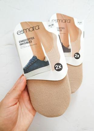 Набор 2 пары хлопковые следы esmara носки