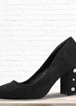 Женские туфли на каблуке. 2 цвета.