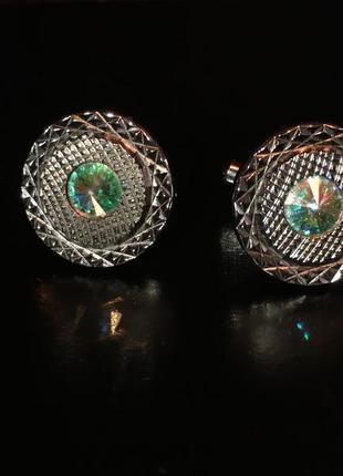 Запонки монарх monarch ссср с хрусталем aurora borealis