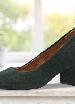 """Женские туфли на каблуке """"six"""" зеленые 25 см"""