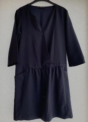 Стильное синее платье mango, размер m