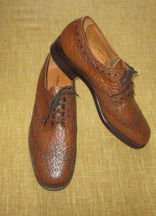 Английские броги jones & sons кожаные туфли дерби