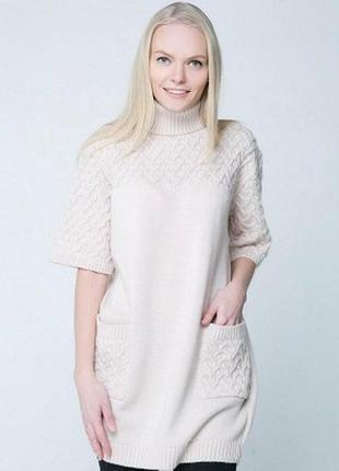 Туника-свитер  оверсайз шерсть