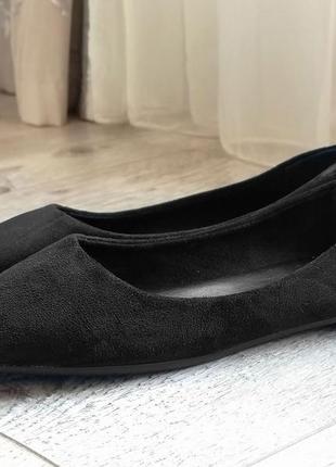 Женские балетки black. черные.