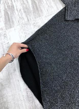Платье оверсайз h&m плотная вязка с люрексом7 фото