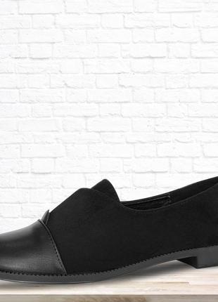 Элегантные туфли на низком каблуке lion. черные.