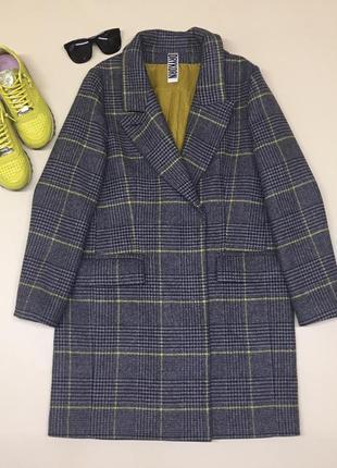 Мега крутое шерстяное пальто премиум качества