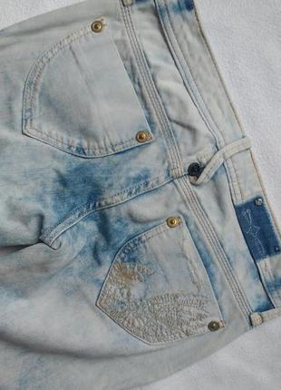 """Бело-голубые джинсы - слим/скинни с низкой посадкой """"lee cooper"""""""