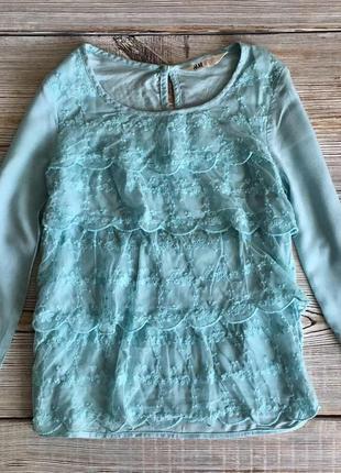 Нарядная блузка h&m 10-11лет