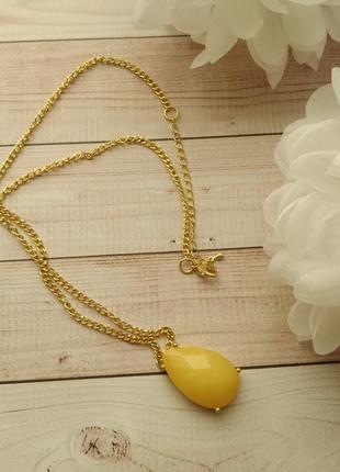 Біжутерія, ланцюжок з кулончиком, бижутерия под золото, подвеска, цепочка с кулончиком
