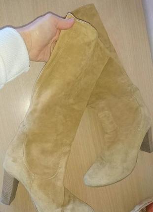 Нюдовые сапоги чулки кожа италия 38 размер