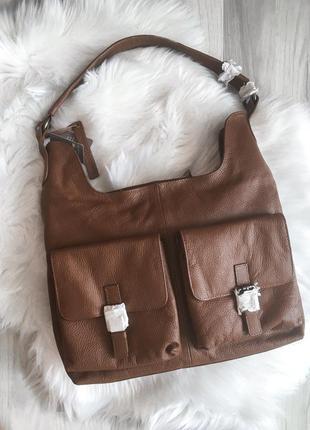 Уценка‼️‼️‼️‼️новая кожаная элегантная сумка на плечо