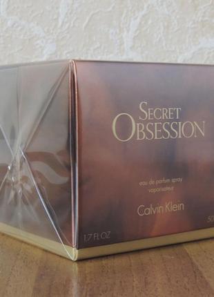 Calvin klein secret obsession парфюмированная вода 50 мл оригинал