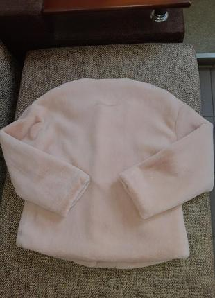 Ніжно-рожевий полушубок2 фото