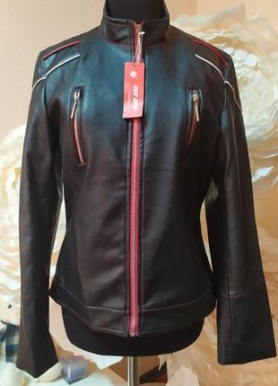 Стильная кожанная (рu) куртка