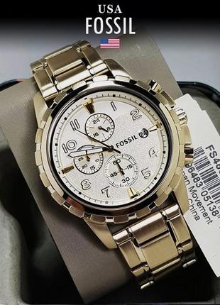 - 46% | мужские часы хронограф fossil dean fs4867 (оригинальные, новые с биркой)