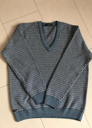 Пуловер свитер шерстяной большой стильный модный дорогой бренд lacoste размер xl