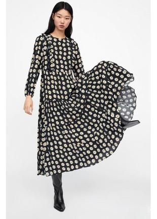 Zara платье в ромашку