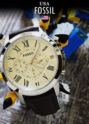 - 33% | мужские часы хронограф fossil grant fs4735ie (оригинальные, новые с биркой)