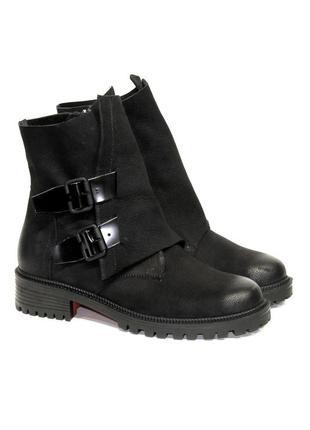 Крутые кожаные ботинки женские milana step