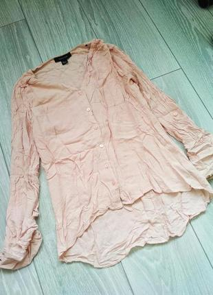 Блуза atmosphere размер uk8 (s) рубашка розовая пудровая вискоза