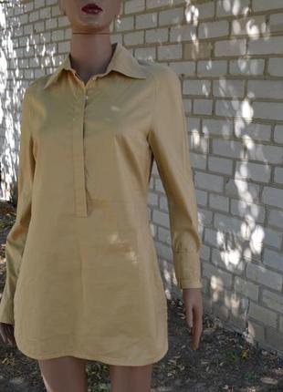 Туника - рубаха светло горчичного цвета clothcraft