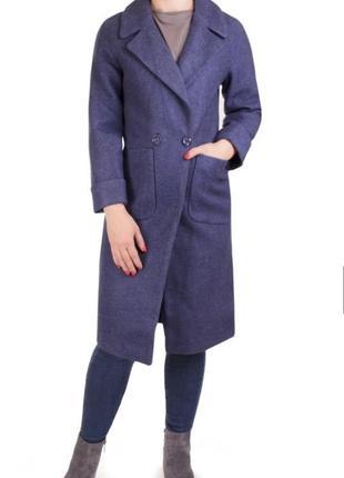 Стильное женское кашемировое пальто с карманами