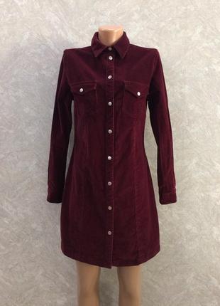 Платье рубашка вельветовое
