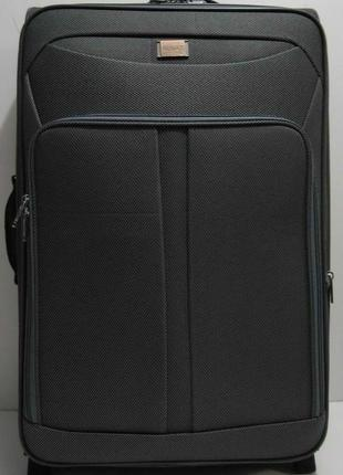Дорожный тканевый чемодан (большой-серый) 19-03-027