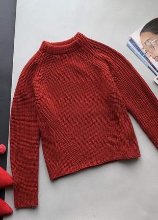 👚стильный свободный горчичный свитер zara/вязяный/тёплый осенний свитер/зимний свитер/👚