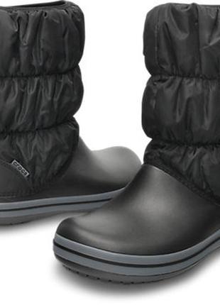 Зимние сапоги crocs w9