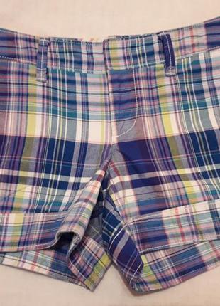 Супер шорты в клетку на стройняшку от gap. размер 40 - 42.