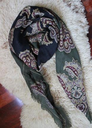 Брендовий шарф платок bgn.100% шерсть розмір 120-120см