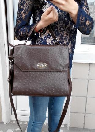 Класна сумка темно-коричневого кольору