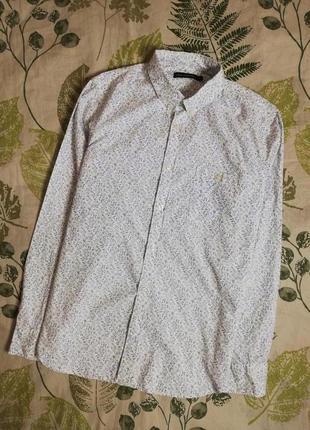 Брендовая крутая рубашка french connection 100% коттон