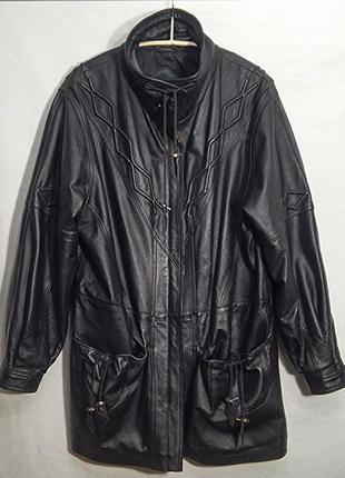 Куртка кожаная черная винтаж