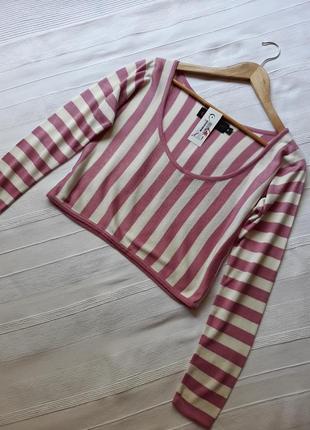 Jaroslava чехия новый#фирменый#укороченный#кроп топ#джемпер#свитер#кофта в полоску.