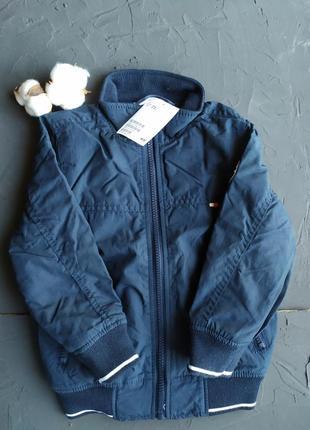 Синя осіння куртка для хлопчика h&m, осенняя куртка для мальчика