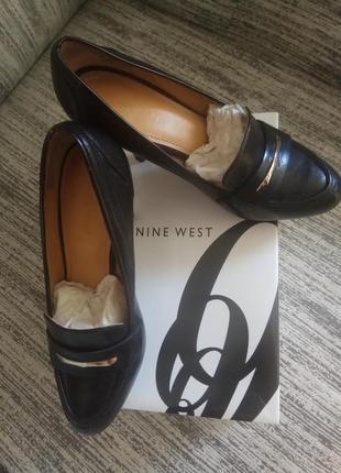 Туфли, р.37,5, кожа, шпилька, nine west