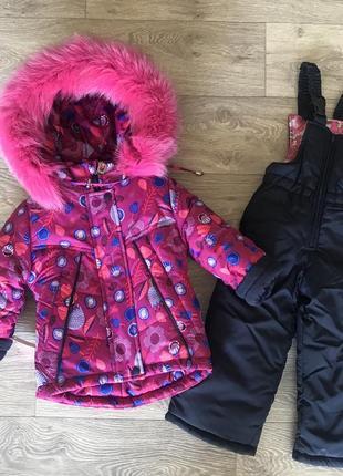 Зимний тёплый комбинезон для девочек