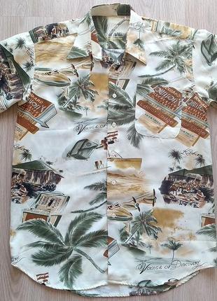 Пляжная рубашка мужская гавайские пейзажи