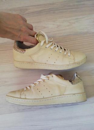 1+1=3🍦кожаные прошиты кроссовки кеды кросівки на ногу до 25 см