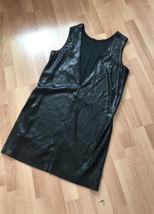 Чёрное платье в паетки